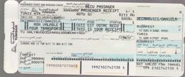 TUNIS AIR (Tunisian Airlines)- 2000 -Passenger Ticket  BUDAPEST (Hungary) - TUNIS (Tunisia)4 Scans - Vliegtickets