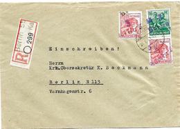 SH 0020 - N° 172-176(2) BERLIN 55 - 21.6.48 S/Lettre RECOMMANDEE V. Berlin. TB - Zone Soviétique
