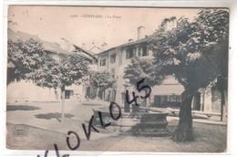 73 CONFLANS ( Savoie ) - La Place - La Fontaine Et Les  Acacais   - CPA  E. REYNAUD Chambery Généalogie - Autres Communes