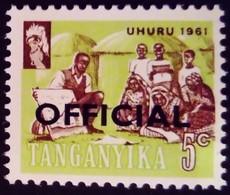 Tanganyika 1961 éducation école School Surchargé Overprinted OFFICIAL Service Yvert S1 ** MNH - Tanganyika (...-1932)