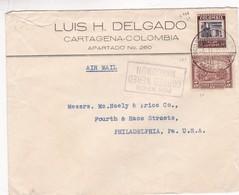 1933 COLOMBIA COMMERCIAL COVER-LUIS H.DELGADO. CIRCULEE TO USA, AUTRE MARQUE- BLEUP - Colombie