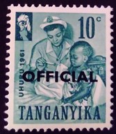 Tanganyika 1961 Nurserie Nursery Surchargé Overprinted OFFICIAL Service Yvert S2 ** MNH - Tanganyika (...-1932)