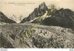 74.  CHAMONIX .  Le Montenvers Et La Mer De Glace Vus Du Mauvais Pas . - Chamonix-Mont-Blanc