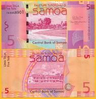 Samoa 5 Tala P-38c 2017 UNC Banknote - Samoa