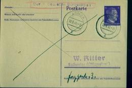 Lomza (Polen) 10.9.41, Deutscher Postkarte, Stempel Durch Deutsche Dienstpost - 1939-44: World War Two