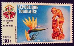Togo 1971 Tourisme Tourism Fleur Flower Sculpture Yvert 716 ** MNH - Togo (1960-...)