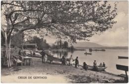 CPA Creux De Genthod  Genève Petit Port De Plaisanciers Animé Edit: F.H. Jullien Genève - GE Genève