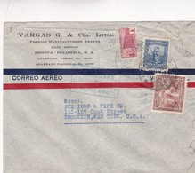1971 COLOMBIA COMMERCIAL COVER. VARGAS G & CIA LTDA. CIRCULEE TO USA- BLEUP - Colombie
