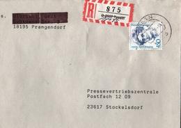 ! 1 Einschreiben 1993, Mit Alten R-Zettel Aus Tessin 18145, Mecklenburg, Dauerserie Frauen - [7] Repubblica Federale