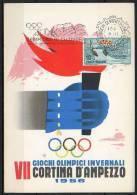 ITALIA  - ITALY - ITALIE - 05/02/1956 - GIOCHI OLIMPICI INVERNALI DI CORTINA - CERIMONIA DI CHIUSURA - ANNULLO - Winter 1956: Cortina D'Ampezzo