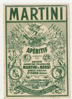 AN 507 / ETIQUETTE   MARTINI   VERMOUTH    ST OUEN  (SEINE) - Labels