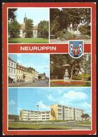 Postcard AK Germany Architecture Views Neuruppin Fontanestadt Theodore Fontane Memorial Pfarrkirche Posted 1992 - Neuruppin