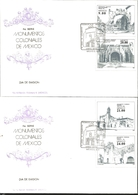 J) 1982 MEXICO, FOURTH SERIES OF COLONIAL MONUMENTS OF MEXICO, EX CONVENTO TEPEJI DEL RIO, ATLATLAHUAN, HUERTA DEL EXCON - Mexico