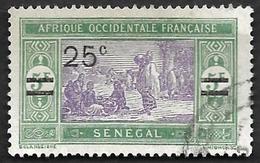 SENEGAL  1924-27 -  Y&T 95 Surchargé - Oblitéré - Gebraucht