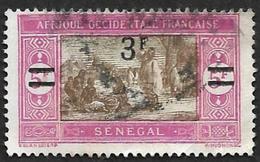 SENEGAL  1924-27 -  Y&T 99 Surchargé - Oblitéré - Gebraucht