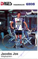 JACOBS Jos BEL (Vosselaar (Antwerpen), 28-1-'53) 1984 Dries - Verandalux - Gios GESIGNEERD! | SIGNÉ! | SIGNED! - Radsport