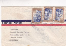 1970'S ECUADOR AIRMAIL COVER. CIRCULEE TO ARGENTINE. STAMP A PAIR- BLEUP - Ecuador
