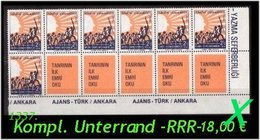 TURKEY ,EARLY OTTOMAN SPECIALIZED FOR SPECIALIST, SEE.... Mi. Nr. 2588 - Kompletter 10er Streifen -R- - 1921-... Republic