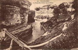 01 BELLEGARDE  LA PASSERELLE D'ARLOD SUR LE RHONE - Bellegarde-sur-Valserine