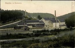 Cp Amerika Penig In Sachsen, Fabrikgebäude Im Muldental - Deutschland