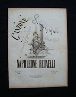 Spartito Canzone Dello Spazzacamino Napoleone Redaelli Vismara Milano - Vecchi Documenti