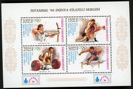 1996 TURKEY / TURQUIE / BF N° 33 / ** MNH. Centenial Of Olympic Games (centenaire Des Jeux Olympiques). Val. 8€. VG/TB - 1921-... République