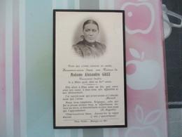 MADAME ALEXANDRE GREZ PIEUSEMENT DECEDE LE 2 MARS 1926 DANS SA 80e ANNEE PHOTO PROTIN BOULOGNE SUR MER - Andachtsbilder