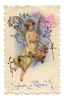 CPA.Carte Ajouti.Ange De La Nouvelle Année.Bouquet De Roses.Angel.                   .E.64. - Angeli