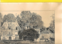 HESDIN-MARCONNE Authentique Dessin à L'Encre Du Château 1955 Signé Roclinger? - Prints & Engravings