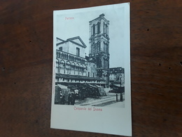 Cartolina Postale 1900, Ferrara, Campanile Del Duomo - Ferrara