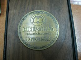 AC - FIRST CENTURY DARUSSAFAKA EQUAL OPPORTUNITY IN EDUCATION 1873 - 1973 MEDAL - PLAQUETTE - Organizations