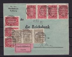 DR EILBRIEF INFLA Mit MiNr 257 + 262a V. KOLBERG Nach STETTIN V. 21.9.1923 - Duitsland