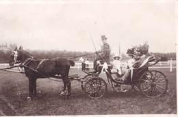 Carte Photo  :  Aix Les Bains (73)  Calèche à La Bataille De Fleurs  D'Aix Aôut 1909 - Lieux