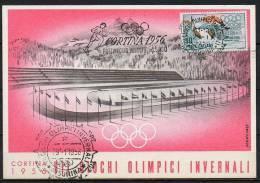 ITALIA  - ITALY - ITALIE - 29/01/1956 - GIOCHI OLIMPICI INVERNALI DI CORTINA - PATTINAGGIO VELOCITA' Mt 5000  - ANNULLO - Winter 1956: Cortina D'Ampezzo