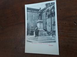 Cartolina Postale 1900, Ferrara, Monumento A Vittorio Emanuele II - Ferrara