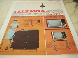 ANCIENNE PUBLICITE TELEVISION TELEAVIA  1965 - Autres