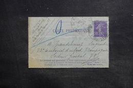 FRANCE - Carte Lettre Pneumatique De Paris Pour Secteur Postal Militaire 78 En 1915 ( Destination Peu Commune) - L 36297 - Pneumatiques