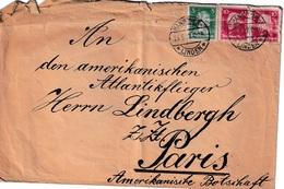 Enveloppe ALLEMAGNE (sans Correspondance) Adressée à Charles LINDBERG Le 22/5/1927 Traversée De L'Atlantique  HK - Autógrafos