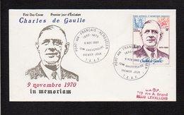 Terres Australes Et Antartiques T.A.A.F / FDC 1erJour 1980 / Charles De Gaulle  / Cachet Port Aux Français,Kerguelen - De Gaulle (Général)