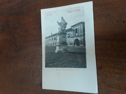 Cartolina Postale 1900, Ferrara, Piazza D'armi,  Statua Del Papa Paolo V - Ferrara
