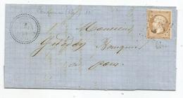 CHARENTE INFERre - PERIGNAC - GC + 4642 S/TP N°21+ Càd Perlé T.22 - 1867 - 1862 Napoleone III
