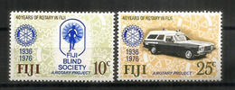 40 Ans De ROTARY Aux îles FIDJI,   2 Timbres Neufs ** - Fidji (1970-...)