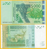 West African States 5000 Francs Togo (T) P-817Tm 2018 UNC Banknote - West African States