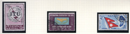 1965 - NEPAL  -  Mi. Nr.  195+196+198 - USED - (CW4755.45) - Nepal