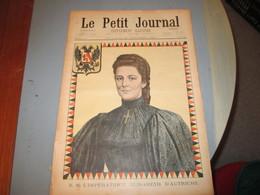 Imperatrice Elisabeth D'autriche ( Sissi) Le Petit Journal . Illustration Portrait Et Assassinat - Journaux - Quotidiens