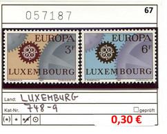 Luxemburg - Luxembourg - Michel  748-749 - ** Mnh Neuf Postfris - Luxemburg