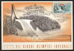 ITALIA  - ITALY - ITALIE - 02/02/1956 - GIOCHI OLIMPICI INVERNALI DI CORTINA - PATTINAGGIO ARTISTICO FEMMINILE - ANNULLO - Pattinaggio Artistico
