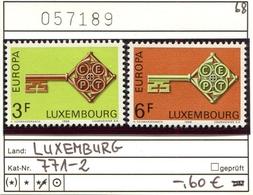 Luxemburg - Luxembourg - Michel  771-772 - ** Mnh Neuf Postfris - Luxemburg