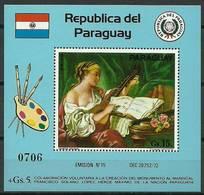 Paraguay 1975 Mi Bl 263 MNH ( ZS3 PRGbl263dav87C ) - Beroemde Vrouwen