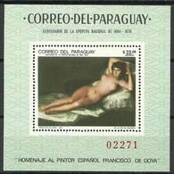 Paraguay 1969 Mi Bl 132 MNH ( ZS3 PRGbl132dav87C ) - Naakt